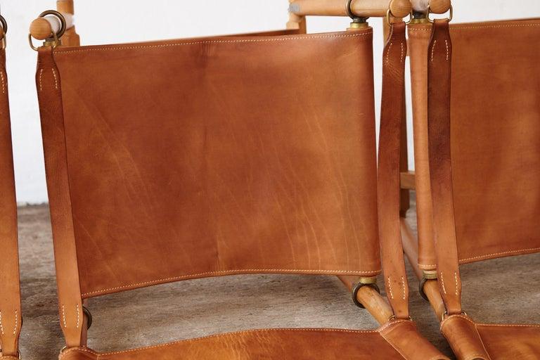 Mogens Koch MK-16 Directors / Safari Chairs, Rud Rasmussen, Denmark, 1960s For Sale 13