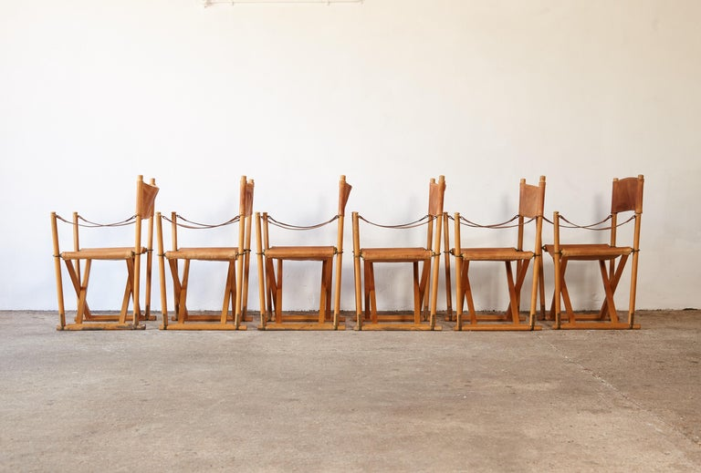 Mogens Koch MK-16 Directors / Safari Chairs, Rud Rasmussen, Denmark, 1960s In Good Condition For Sale In London, GB