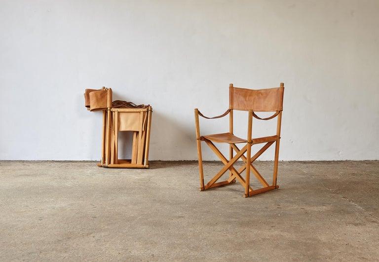 Mogens Koch MK-16 Directors / Safari Chairs, Rud Rasmussen, Denmark, 1960s For Sale 1