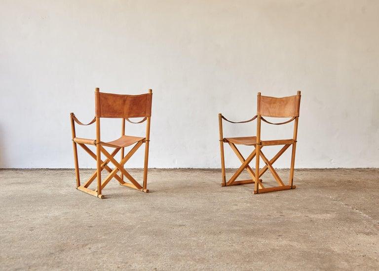 Mogens Koch MK-16 Directors / Safari Chairs, Rud Rasmussen, Denmark, 1960s For Sale 2