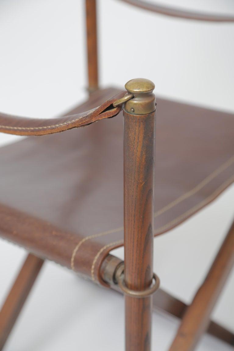 Leather Mogens Koch MK-16 Folding Chair For Sale