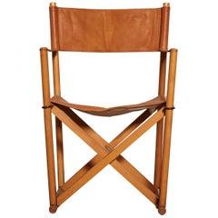 Mogens Koch MK-16 Directors / Safari Chair for Interna, Denmark, 1960s