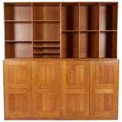 Mogens Koch Modular Cabinets with Bookcases, Denmark, 1950s