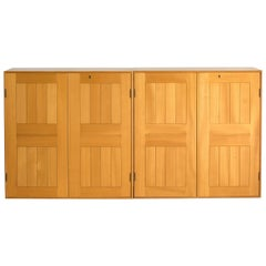 Mogens Koch Pair of Cabinets in Elm for Rud. Rasmussen