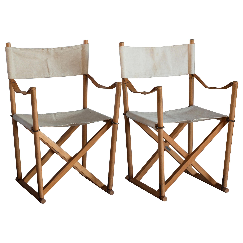Mogens Koch Pair of Folding Chairs for Interna