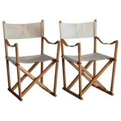 Mogens Koch Pair of Folding Chairs for Interna