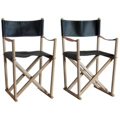 Mogens Koch Pair of Folding Chairs for Rud. Rasmussen