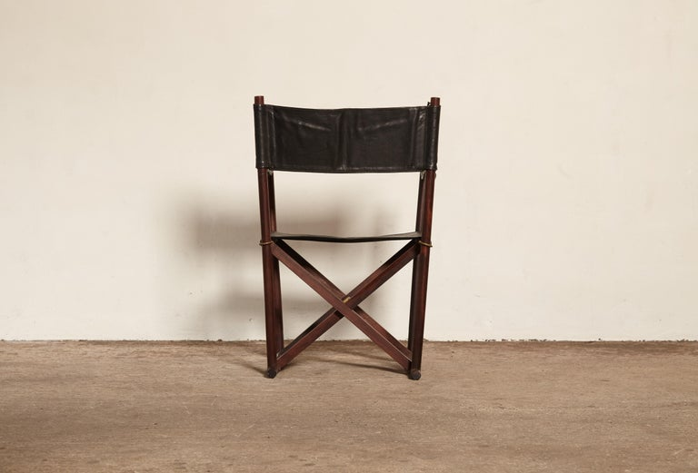 Mogens Koch Rosewood MK-16 Directors / Safari Chair for Interna, Denmark, 1960s In Good Condition In London, GB