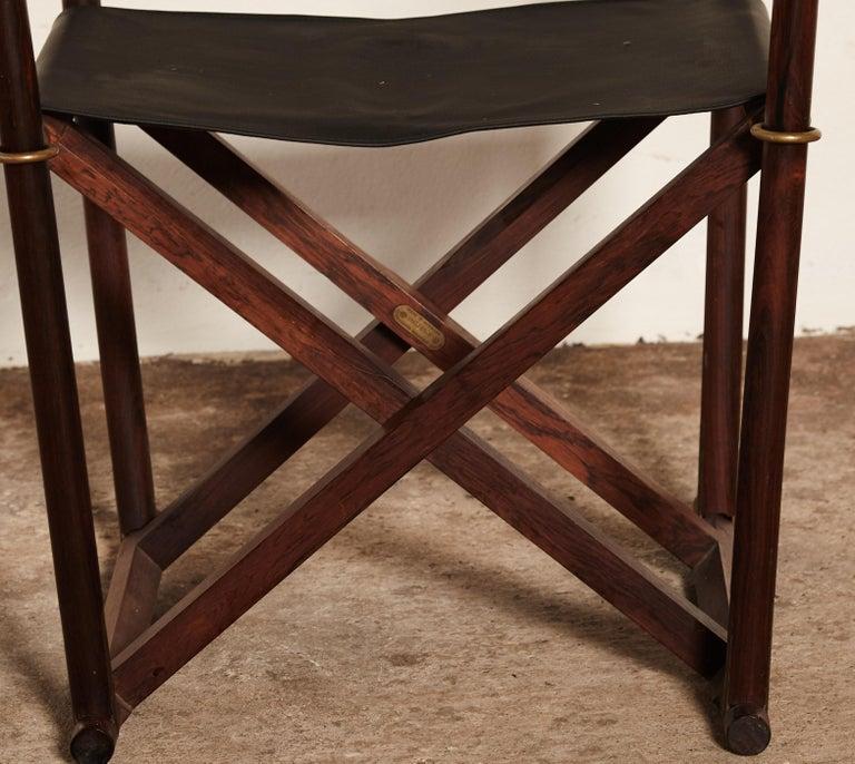 20th Century Mogens Koch Rosewood MK-16 Directors / Safari Chair for Interna, Denmark, 1960s