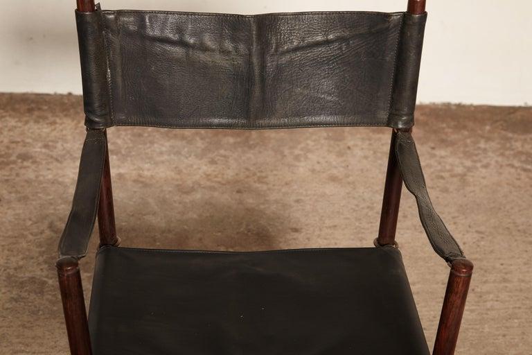 Mogens Koch Rosewood MK-16 Directors / Safari Chair for Interna, Denmark, 1960s 1
