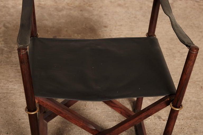 Mogens Koch Rosewood MK-16 Directors / Safari Chair for Interna, Denmark, 1960s 2