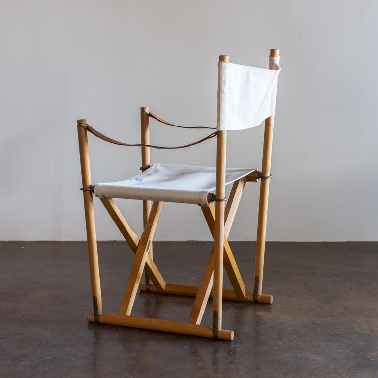 Mogens Koch Set of Six MK16 Folding Chairs for Rud Rasmussen, Denmark, 1950s For Sale 6