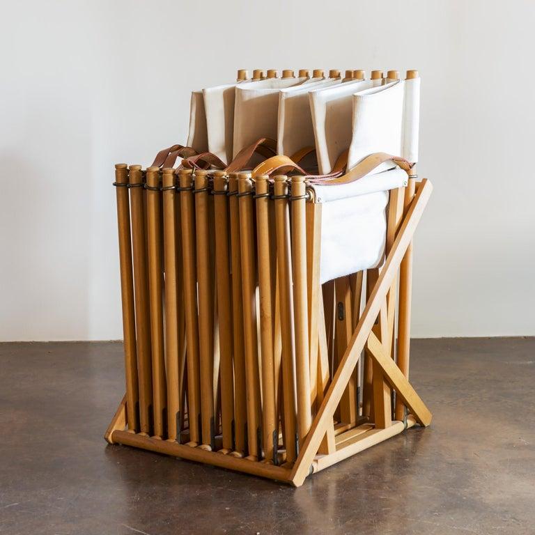 Mogens Koch Set of Six MK16 Folding Chairs for Rud Rasmussen, Denmark, 1950s For Sale 8