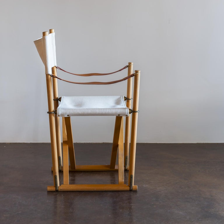 Mid-Century Modern Mogens Koch Set of Six MK16 Folding Chairs for Rud Rasmussen, Denmark, 1950s For Sale