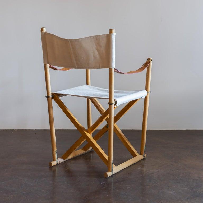 Danish Mogens Koch Set of Six MK16 Folding Chairs for Rud Rasmussen, Denmark, 1950s For Sale