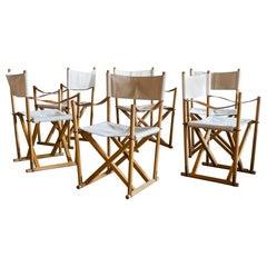 Mogens Koch Set of Six MK16 Folding Chairs for Rud Rasmussen, Denmark, 1950s