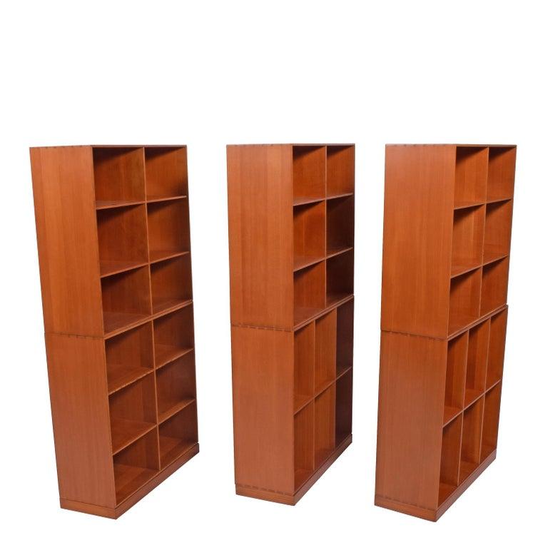 Scandinavian Modern Mogens Koch Six Open Bookcases for Rud Rasmussen For Sale