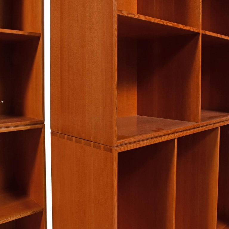 Mogens Koch Six Open Bookcases for Rud Rasmussen In Good Condition For Sale In Dallas, TX
