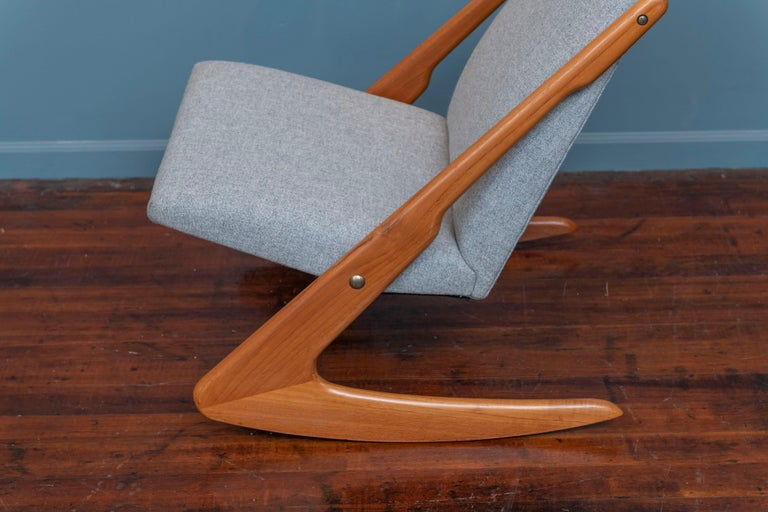 Scandinavian Modern Mogens Kold Rocking Chair For Sale