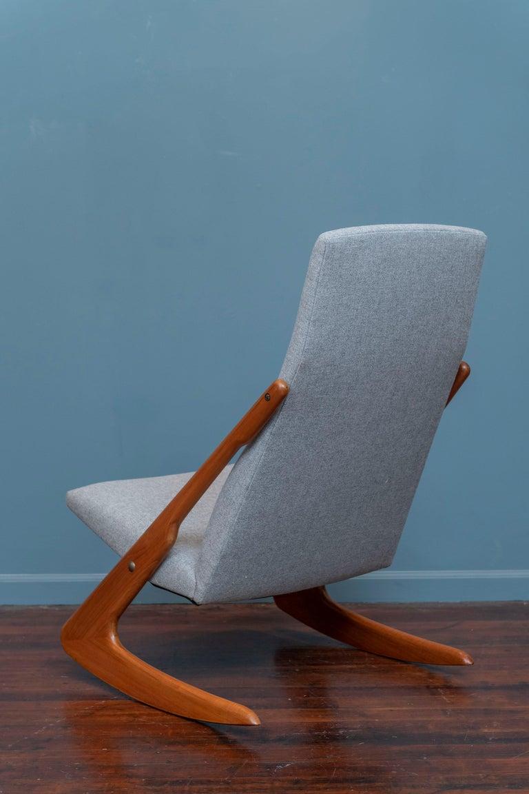 Danish Mogens Kold Rocking Chair For Sale