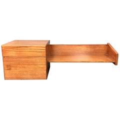 Mogens Kold Teak Floating Shelf and Desk Denmark