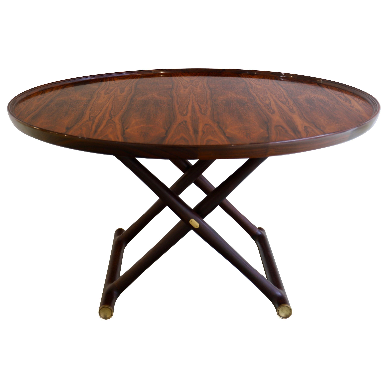 "Mogens Lassen ""Egyptian"" Folding Table in Rosewood"