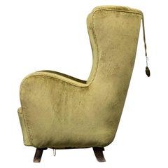 Mogens Lassen Green Chair Armchair 1940 Vintage Scandinavian Mid-Century Modern