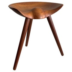Mogens Lassen Teak Stool for K. Thomsen, Denmark
