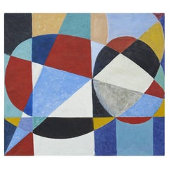 Mogens Valeur, Abstract Composition Oil Painting