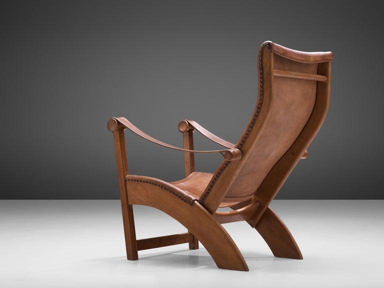 Mogens Voltelen 'Copenhagen Chair' in Original Leather and Lisa Johansson Lamp 5