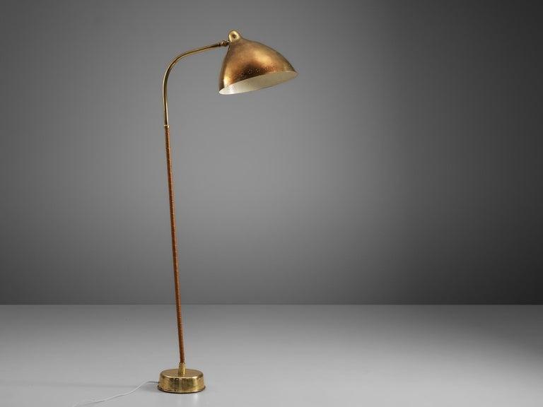 Mogens Voltelen 'Copenhagen Chair' in Original Leather and Lisa Johansson Lamp 1