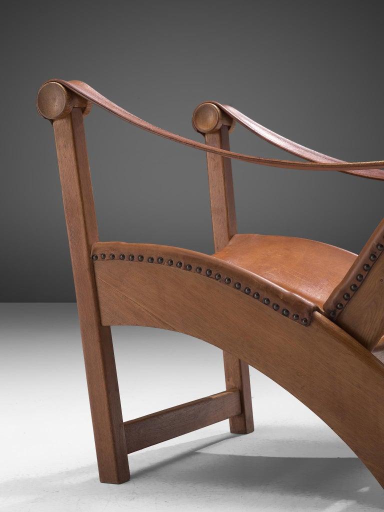Mogens Voltelen 'Copenhagen Chair' in Original Leather and Lisa Johansson Lamp 2