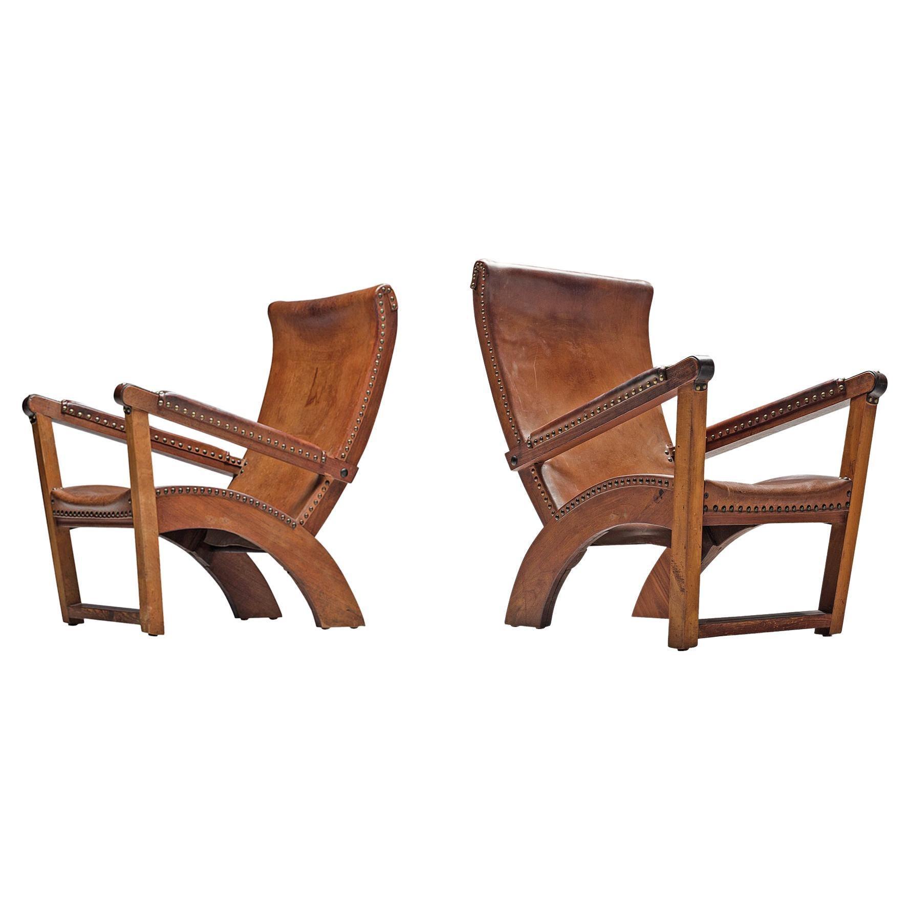 Mogens Voltelen 'Copenhagen' Lounge Chair in Leather