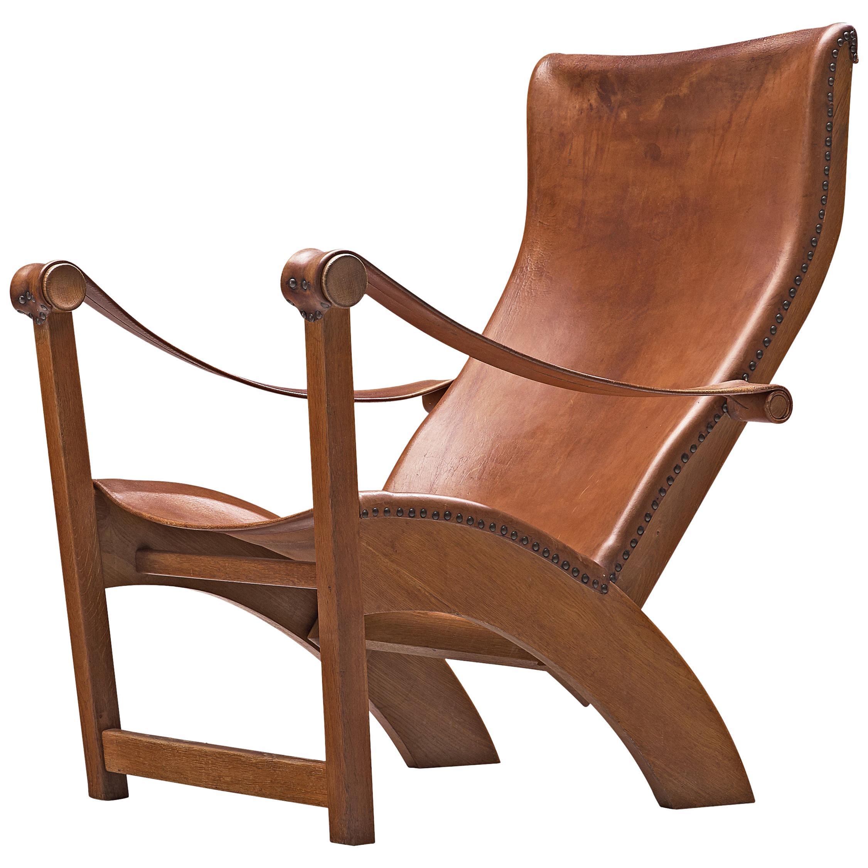 Mogens Voltelen for Niels Vodder 'Copenhagen Chair' in Original Cognac Leather