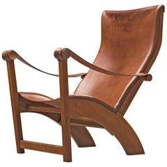 Mogens Voltelen for Niels Vodder 'Copenhagen Chair' in Original Cognac Leather
