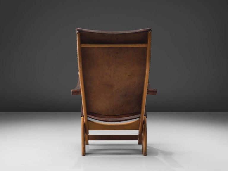 Mogens Voltelen for Niels Vodder 'Copenhagen Chair' in Original Leather For Sale 4