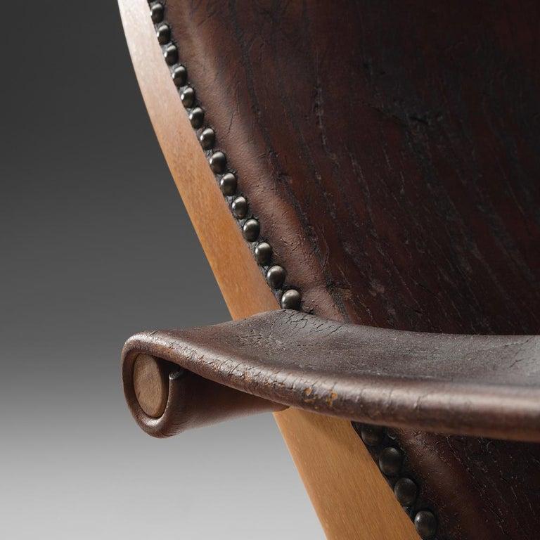 Scandinavian Modern Mogens Voltelen for Niels Vodder 'Copenhagen Chair' in Original Leather For Sale
