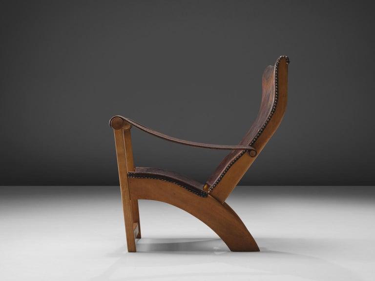Danish Mogens Voltelen for Niels Vodder 'Copenhagen Chair' in Original Leather For Sale