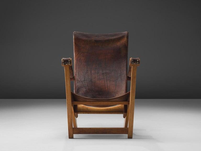 Mogens Voltelen for Niels Vodder 'Copenhagen Chair' in Original Leather For Sale 2