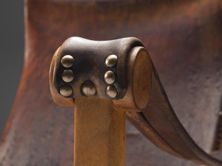 Mogens Voltelen for Niels Vodder 'Copenhagen Chair' in Original Leather For Sale 3