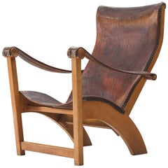 Mogens Voltelen for Niels Vodder 'Copenhagen Chair' in Original Leather