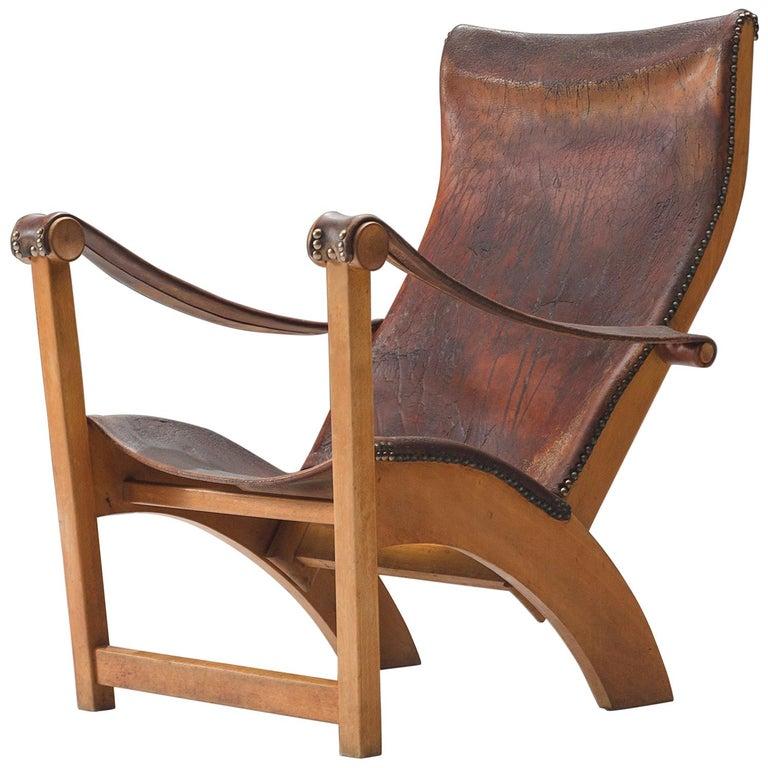 Mogens Voltelen for Niels Vodder 'Copenhagen Chair' in Original Leather For Sale