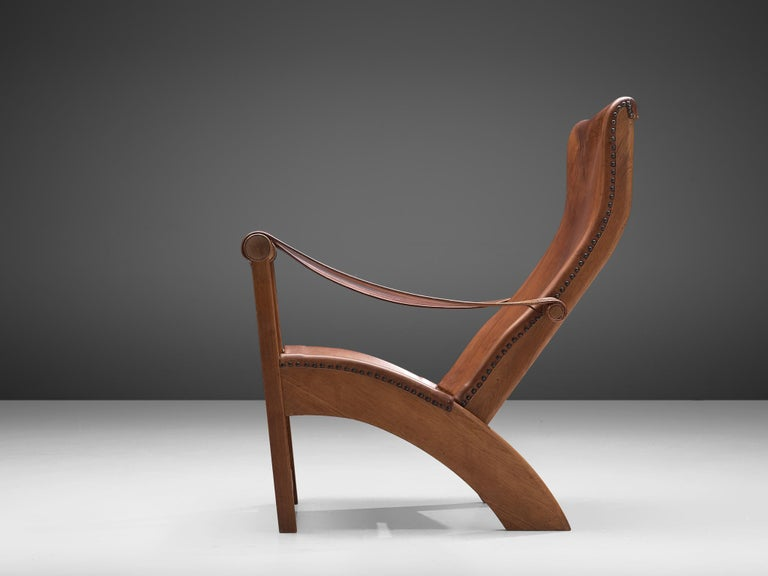 Scandinavian Modern Mogens Voltelen for Niels Vodder Original Patinated 'Copenhagen Chair' For Sale