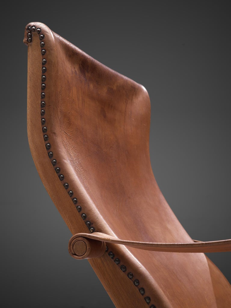 Mogens Voltelen for Niels Vodder Original Patinated 'Copenhagen Chair' For Sale 1