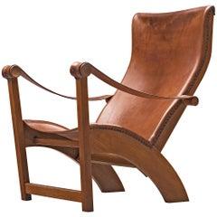 Mogens Voltelen for Niels Vodder Original Patinated 'Copenhagen Chair'