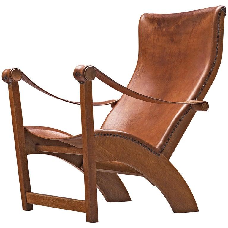 Mogens Voltelen for Niels Vodder Original Patinated 'Copenhagen Chair' For Sale