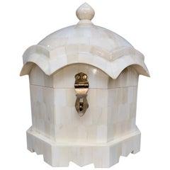 Moghul Style Maharani Jewelry Box with Bone Marquetry