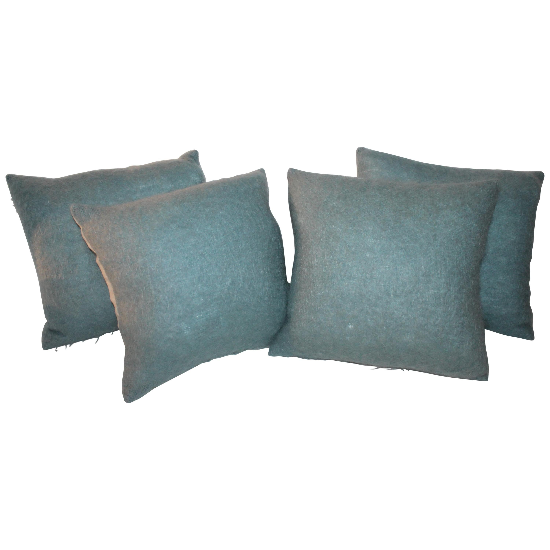 Mohair and Linen 4 Pillows