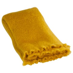 Mohair Blanket in Saffron Yellow, in Stock