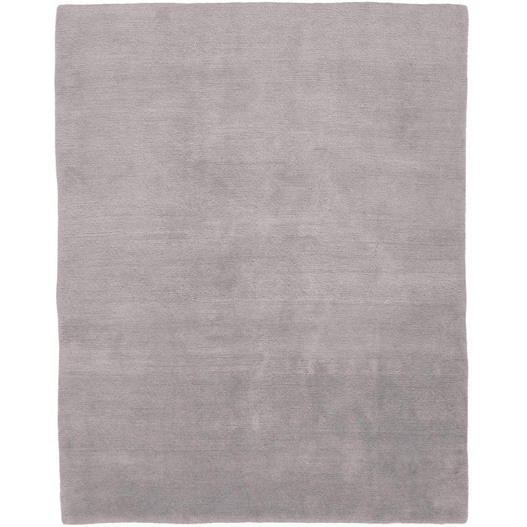 Mohair Dove Hand Knotted 10x8 Rug In Wool By The Rug